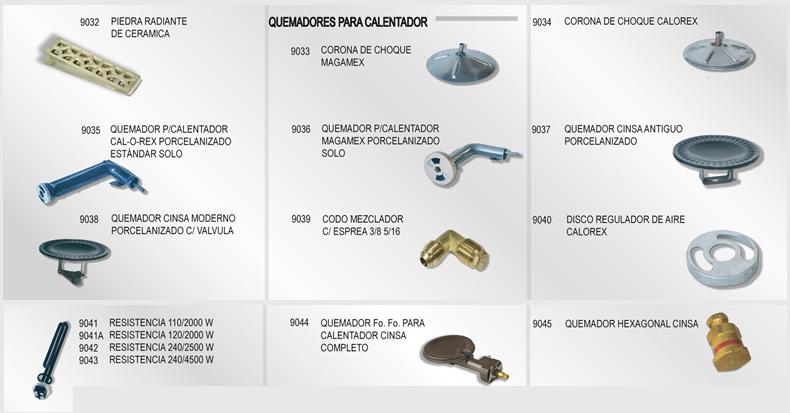 Pyagsa partes y accesorios para gas - Precio del queroseno para estufas ...